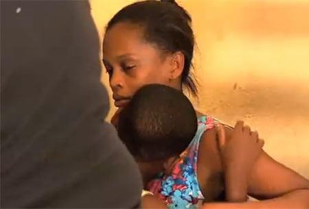 Mulher grávida se despede de filho após ser detida com drogas (Reprodução Rede Record)