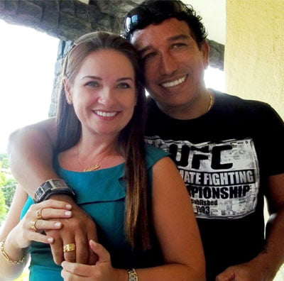 Magno e Lauriete são casados
