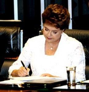 A Presidente Dilma assinou Decreto na segunda-feira