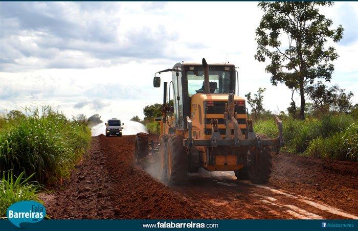 Serão recuperados 56km na Estrada do Café, localizado no Anel da Soja em Barreiras