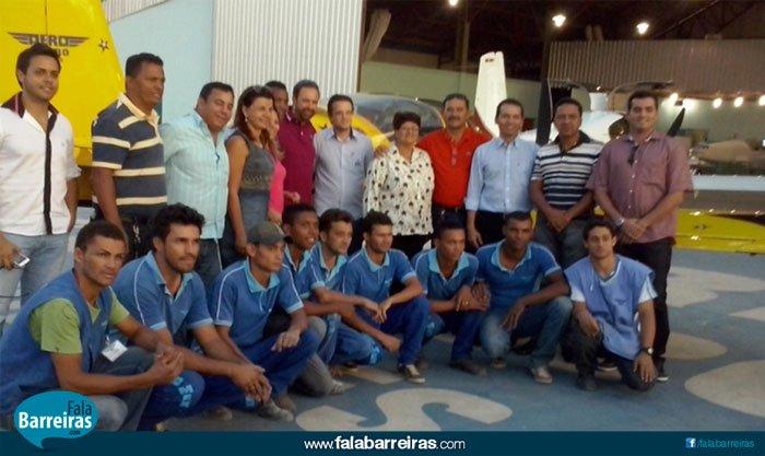 Visita dos vereadores à ABA - Associação Barreirense Aerodesportiva em Barreiras (Foto: Ascom/Câmara)