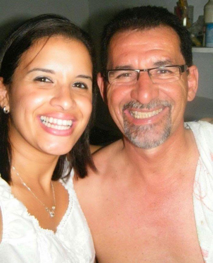 Jaqueline e seu pai, Edésio Moreau Cruz