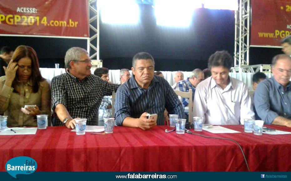 O deputado federal Valmir Assunção durante plenária em Barreiras (Foto: Divulgação)