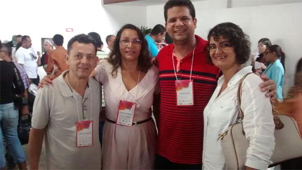 O diretor de cultura de Barreiras, Gelson Vieira, a secretária de cultura de Mansidão, Edna Ferreira, o representante territorial Tiago Lira e a coordenadora de Wanderley, Fabíola Pereira.