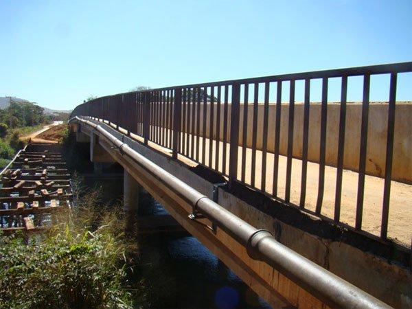 Nova rede de abastecimento na ponte da prainha