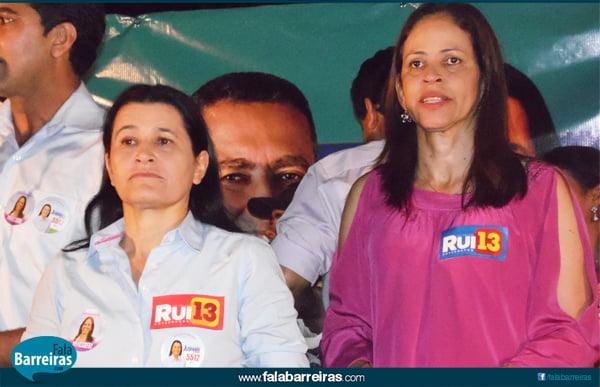Jusmari Oliveira, candidata a deputada federal e Kelly Magalhães, candidata a deputada estadual, formam a dupla JK   Foto: Osmar Ribeiro