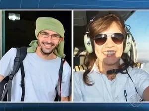 Fotógrafo Rui Rezende e piloto Ana Maira Moraes estavam em avião que caiu no oeste baiano   Foto: Reprodução/TV Bahia