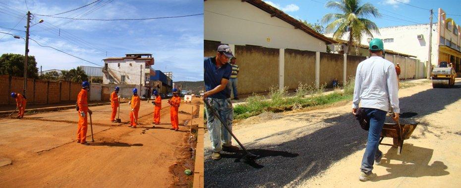 Técnicos da Embasa finalizam ramais prediais no bairro São Miguel e pavimentação de trecho danificado para assentamento de tubulação