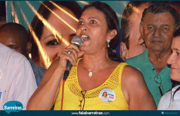 Carmélia da Mata, mostrou seu descontentamento com a atual administração e manifestou apoio a Jusmari Oliveira   Foto: Osmar Ribeiro