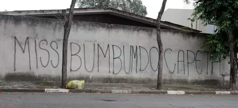 Muro do prédio de Rebeka Francis e Andressa Urach em São Paulo | Foto: Thiago Duran/AgNews