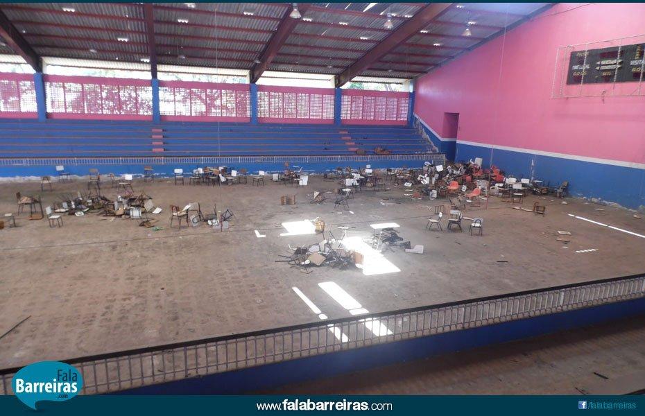 Ginásio de Esportes - área interna   Foto: Osmar Ribeiro