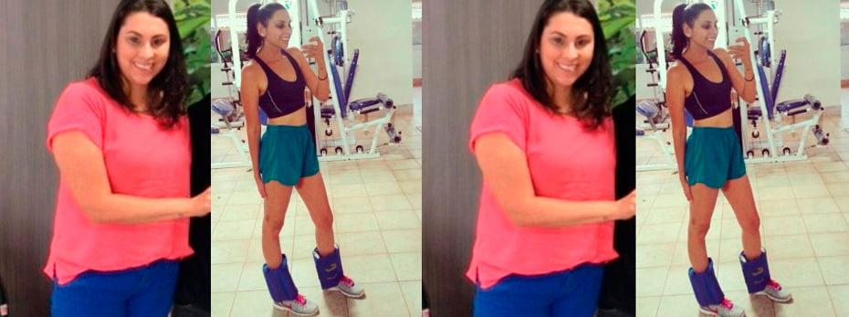 Cindy aumentou de peso quando foi morar em Brasília depois perdeu 25kg | Foto: Arquivo pessoal
