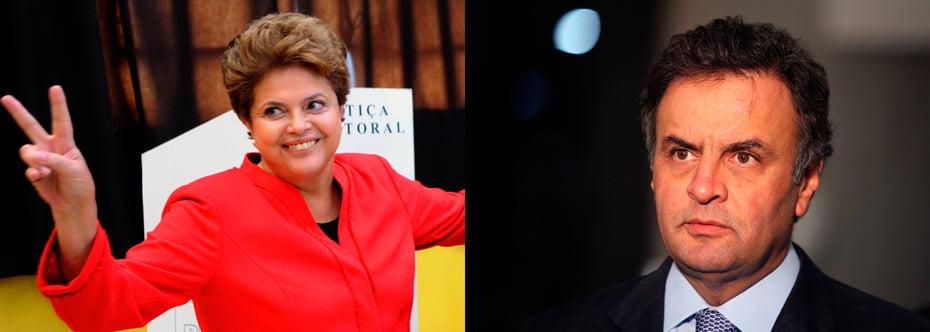 Dilma Rousseff leva vantagem nas duas pesquisas, fora da margem de erro | Fotos: Reprodução
