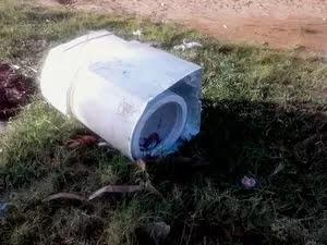 Criança foi encontrada dentro de máquina de lavar | Foto: Márcio Garcia