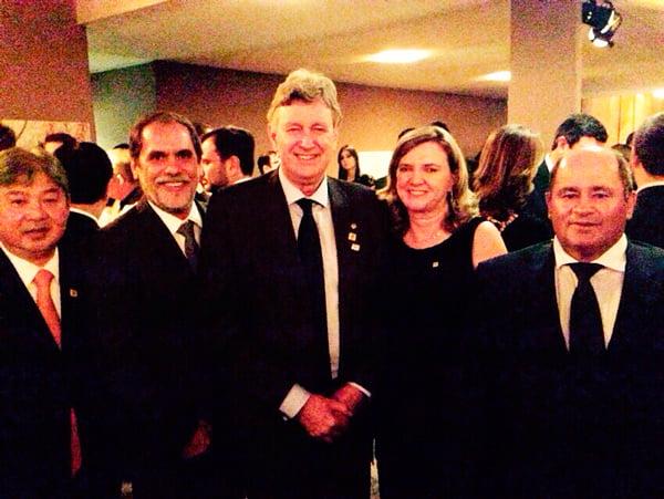 Paulo Shimohira, João Carlos Jacobsen,  Luis Carlos Heinze, Isabel da Cunha e Júlio César Busato | Foto: Ascom Abapa