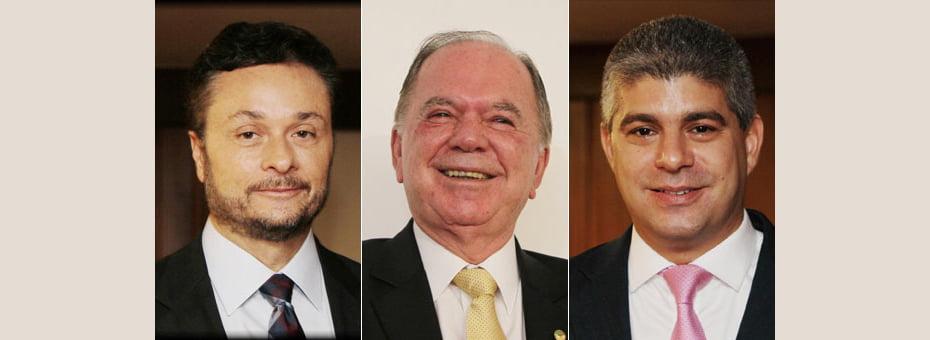 Manoel Vitório (esq), João Leão (centro) e Maurício Barbosa (dir) assume a Sefaz, Seplan e SSP   Fotos: Manu Dias/GOVBA