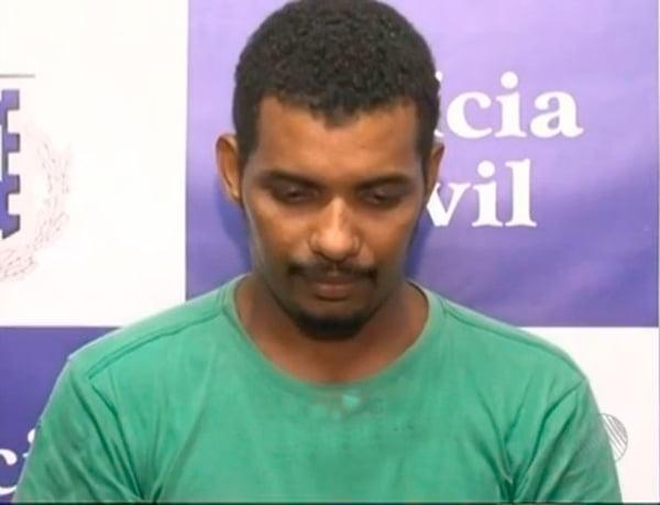 O motorista Ismael foi preso e confessou ter matado a vizinha | Foto: Reprodução/TV Bahia