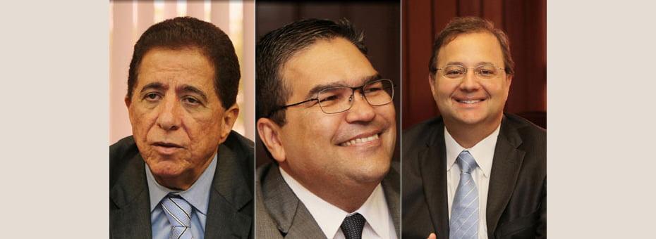 Osvaldo Barreto (esq), Paulo Moreno (centro) e Fábio Villas-Boas (dir) assume SEC, PGE e Sesab   Fotos: Manu Dias/GOVBA