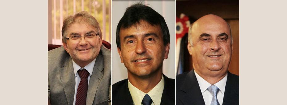 Eugênio Spengler (esq), André Curvello (centro) e Nestor Duarte (dir) assume a Sema, Secom e Seap   Fotos: Manu Dias/GOVBA