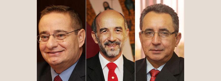 Cássio Peixoto (esq), Álvaro Gomes (centro) e Geraldo Reis (dir) assume SIHS, Setre e SDHDS   Fotos: Manu Dias/GOVBA