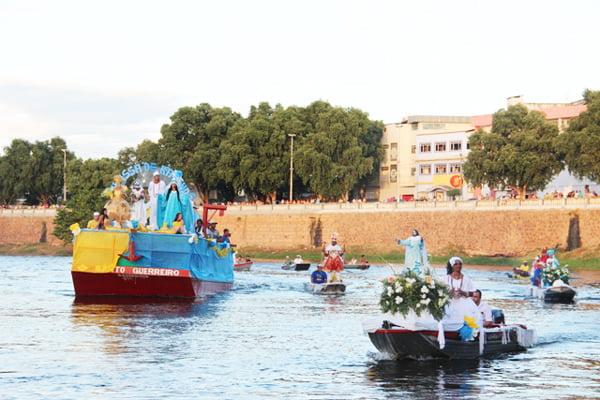 O cortejo fluvial é o ponto alto da festa | Foto: Arquivo