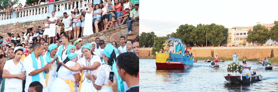 O evento leva muita gente ao cais da cidade para acompanhar o cortejo fluvial que é o ponto alto da festa | Foto: Dircom Barreiras