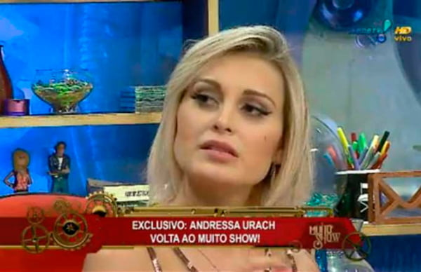 Andressa voltou ao trabalho nessa segunda-feira | Foto: Reprodução RedeTV