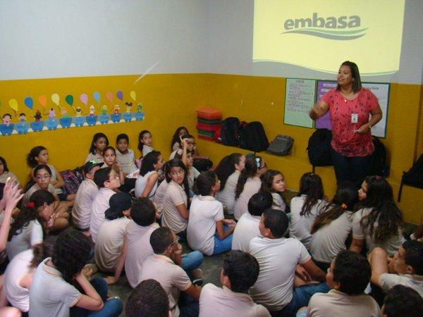 Palestra na escola Semear em Barreiras | Foto: Ascom Embasa
