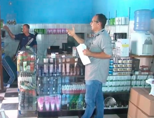 Vigilância Sanitária apreende R$ 100 mil em produtos de saúde em Barreiras   Foto: Reprodução/TV Bahia