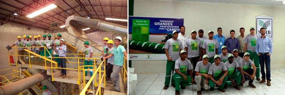 O primeiro treinamento aconteceu na Algodoeira Busato / Primeira turma do curso de Operação e Manutenção de Máquinas Beneficiadoras de Algodão | Fotos: Divulgação