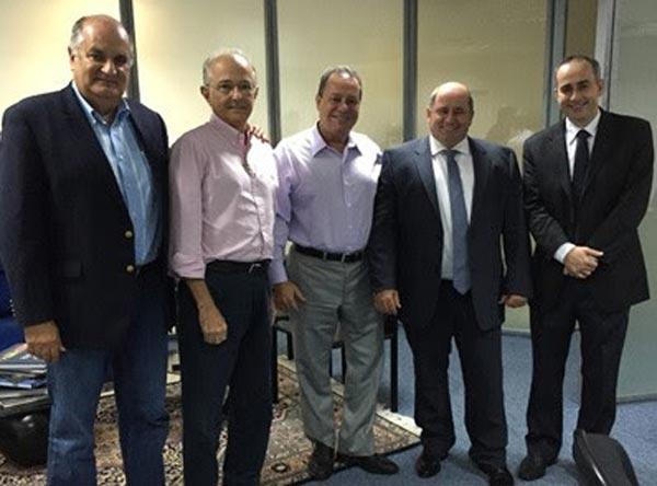 Júlio Cézar Busato, presidente da Aiba, em reunião com a Fieb | Foto: Divulgação