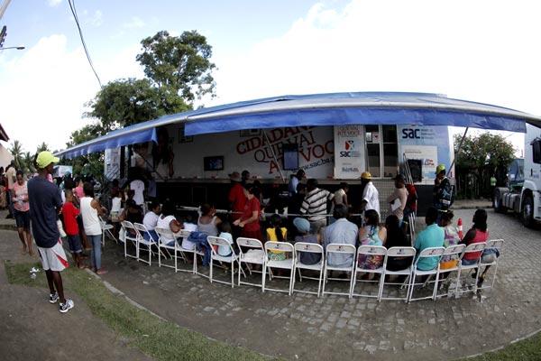 Pela primeira vez as comunidades quilomboas recebem o SAC Móvel | Foto: Amanda Oliveira/GOVBA