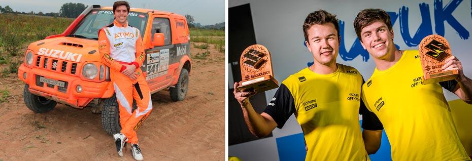 Luiz Razia estreia no Rally dos Sertões correndo com Suzuki Jimny e terá Luis Felipe Eckel como navegador na prova | Fotos: Divulgação e Murilo Mattos