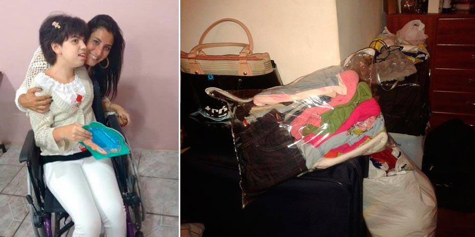 Gisela tem doença crônica há seis anos e sua mãe decidiu vender roupas para pagar pelo tratamento | Fotos: Arquivo Pessoal