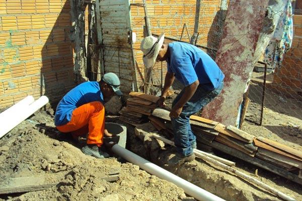 Obras Intradomiciliares em Ibotirama | Foto: Ascom Embasa