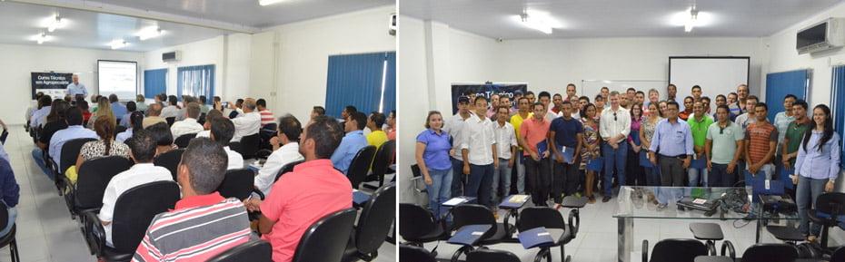 A cerimônia aconteceu no auditório do Centro de Treinamento, em Luís Eduardo Magalhães / Primeira turma do Curso Técnico de Agropecuária | Fotos: Virgília Vieira