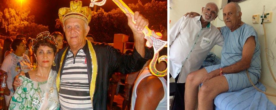 Zé de Hermes, o maios famoso folião de Barreiras, falece no Hospital do Oeste | Fotos: Arquivo e Carlos Quirino