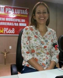 Kelly teve seu nome referendado pelo partido como pré-candidata a prefeita de Barreiras | Foto: Osmar Ribeiro/Falabarreiras