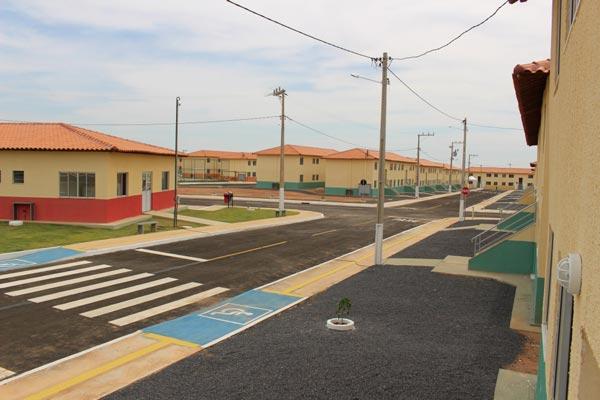 O residencial Vista Alegre contém 600 aptos, área privativa de 41 m², distribuída em dois quartos, sala, cozinha, banheiro e e área de serviço | Foto: Ascom PMLEM