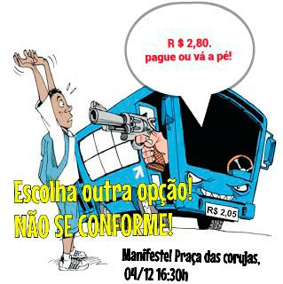 A população promete fazer manifestação nesta sexta-feira, 04, na Praça Castro Alves, a partir das 16h30.