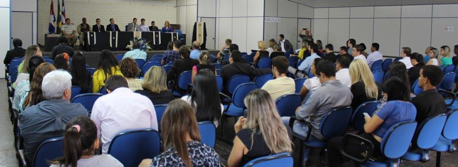 O Juiz Claudemir da Silva Pereira oficializa a instalação da segunda vara cível em LEM | Foto: Ascom LEM