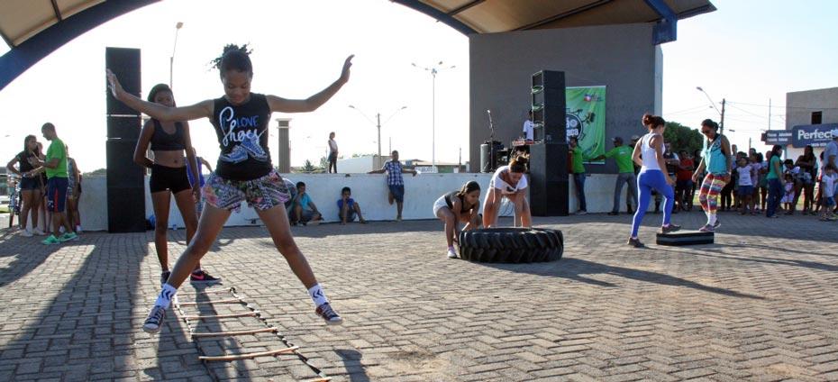 O crossfit foi uma das novidades do Ação na Praça | Foto: Jaíra Mariani