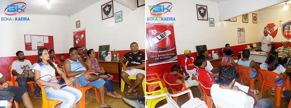 Representantes do clubes participaram da reunião | Fotos: Boka de Kaeira