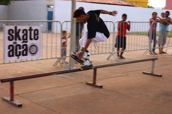 O patins foi uma das atrações de mais uma edição do Ação na Praça | Foto: Divulgação