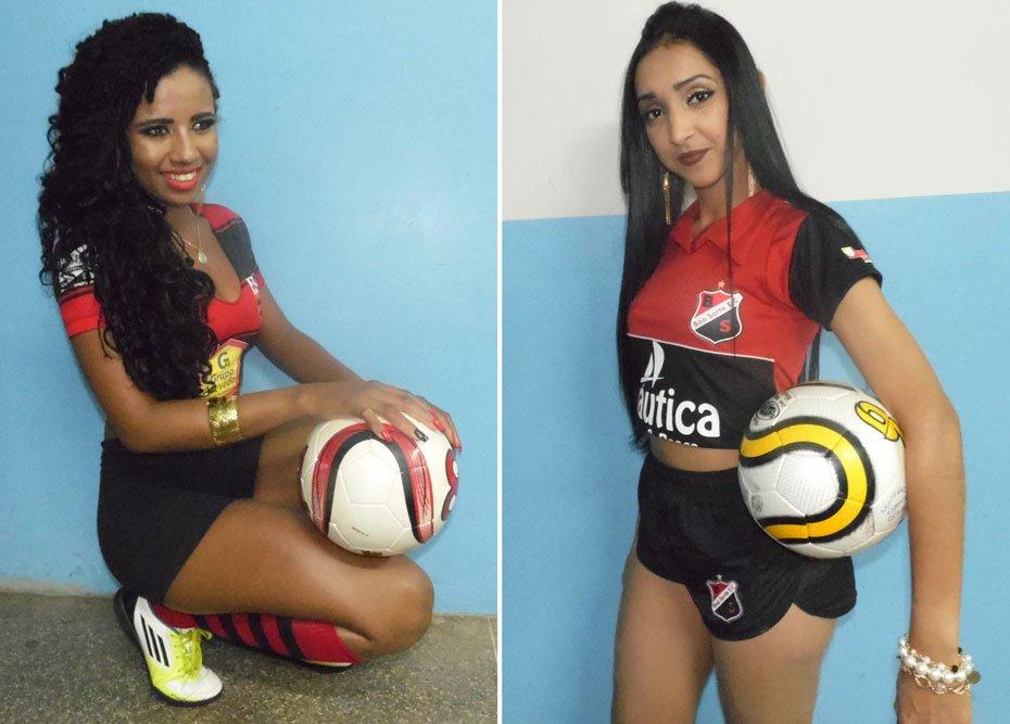 Lucimara do Nascimento Santos de Jesus - Esporte Clube Flamengo / Sara Keila Ramos Câmara - Esporte Clube Boa Sorte | Fotos: Osmar Ribeiro/Falabarreiras