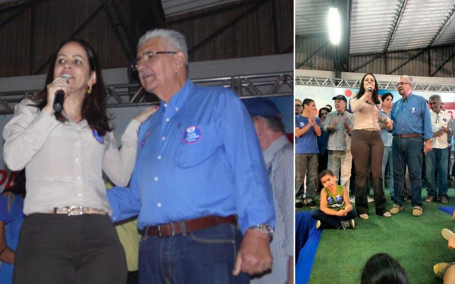 Kelly ao lado de Antonio Henrique confirmando que o PCdoB caminhará junto ao atual prefeito rumo a reeleição | Fotos: Osmar Ribeiro/Falabarreiras