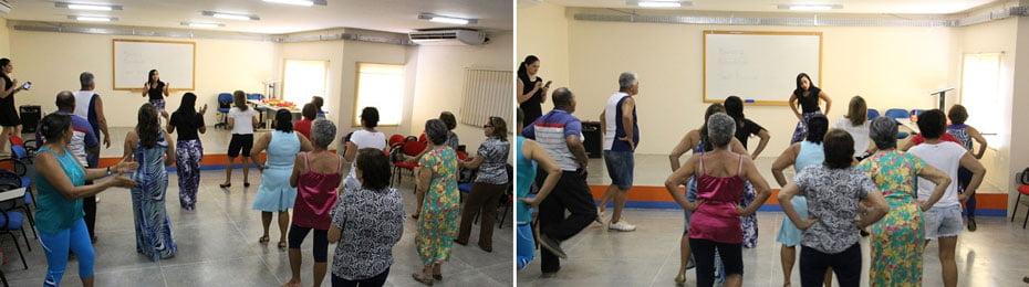 35 idosos inscritos vão aprender vários ritmos   Fotos: Araticum