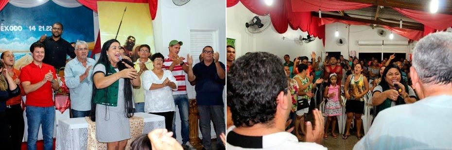 A igreja ficou lotada pelos fieis e pela comitiva do prefeito | Fotos: divulgação