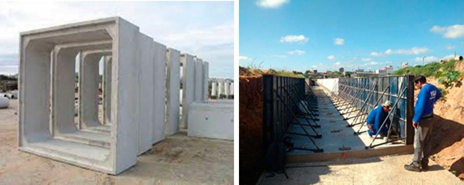 Construção de galeria celular de concreto armado com 1.163,19 metros de extensão e 03 dimensões variadas