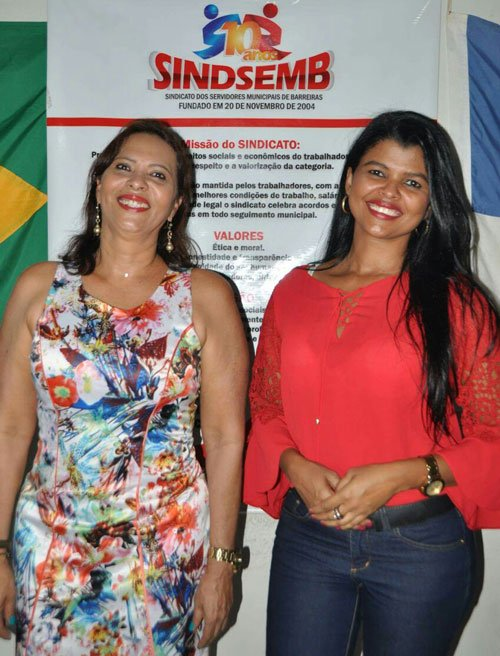 Carmélia da Matta e Katiuscia Carvalho continuam na direção do Sindsemb | Foto: Divulgação